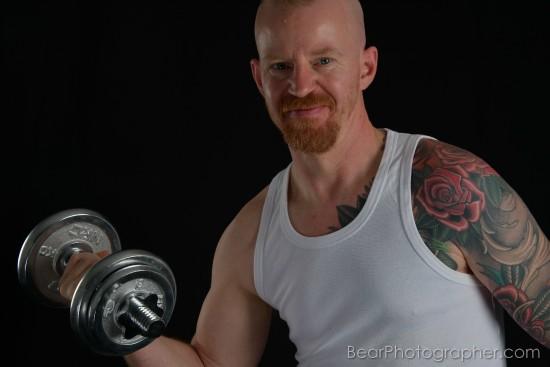 Redhead men phortaits - strong ginger photography